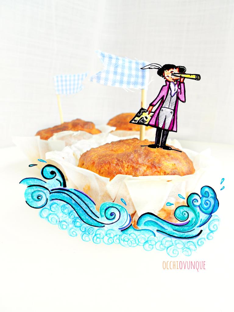 muffin salati tonno e pomodoro