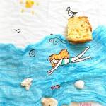 Treccia di pan brioche e l'isola di Capri