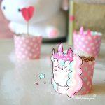 Muffin unicorno al latte e miele al profumo di limone