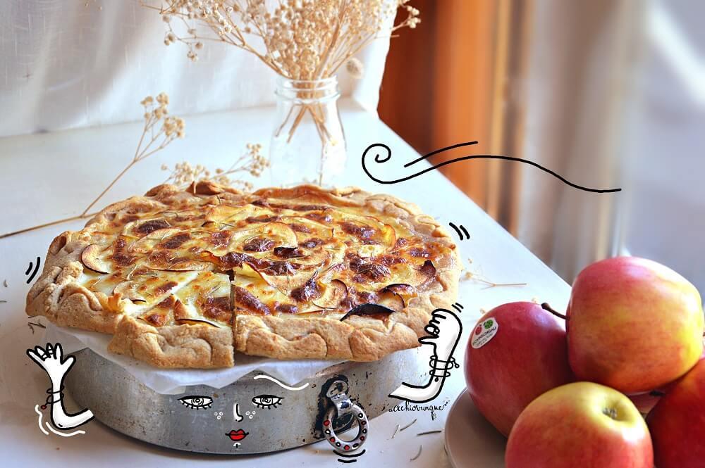 pizza di mele veloce