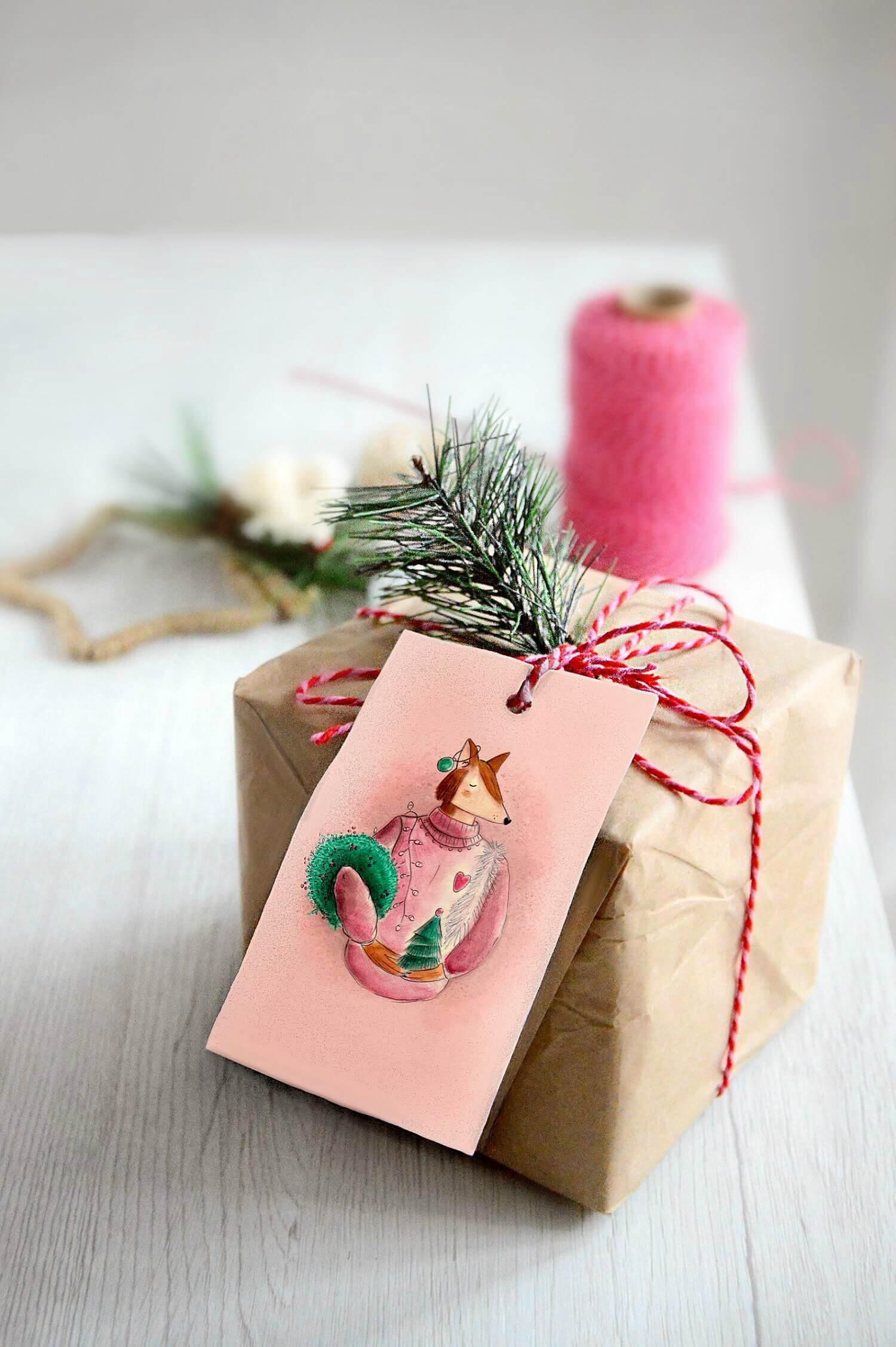 Confezionare regali di Natale etichette