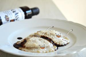 ravioli zucca parmigiano aceto balsamico