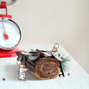 Bûche de Noël – tronchetto di Natale senza burro e senza panna.